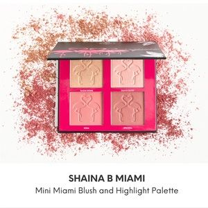 SHAINA B Miami blush and highlight palette ✨